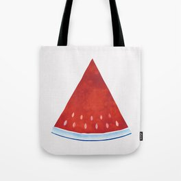 Summer Slice - Red and Blue Watermelon Watercolor Tote Bag