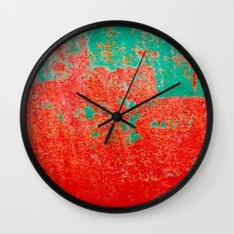 Mr Green And Mrs Orange Wall Clock