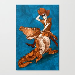 Crocodile Cowboy Canvas Print