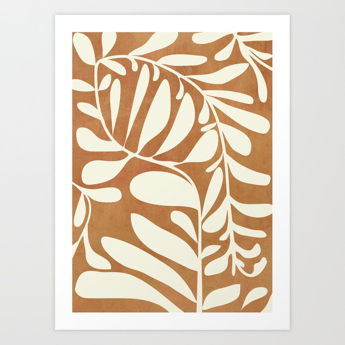 Abstract Plant 3/2 Art Print