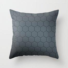 Matte Silver Honeycomb Hexagon Pattern Throw Pillow