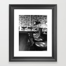 Late Night Diner Framed Art Print