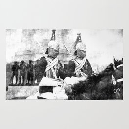 Household Cavalry Changing Of The Guard Vintage Rug