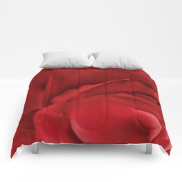Red Rose Abstract Comforters