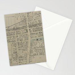 Vintage Map of Newark NY (1874) Stationery Cards
