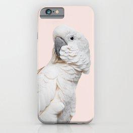 Cockatoo Parrot Photography   Blush Pink   Peach   Happy   Tropical   peek-a-booFun   Paradise iPhone Case