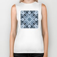 snowflake Biker Tanks featuring Snowflake by Steve Purnell