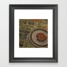 Morning News Framed Art Print