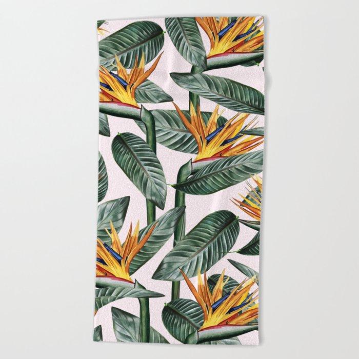 Bird Of Paradise Pattern #society6 #decor #buyart Beach Towel