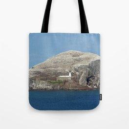 Gannets on Bass Rock, North Berwick, Scotland Tote Bag