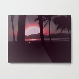Cairns Sunrise in Red Metal Print