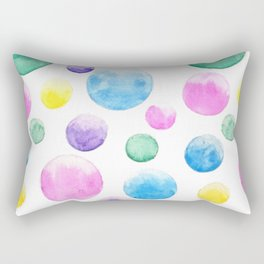 cheerful colorful bubbles Rectangular Pillow