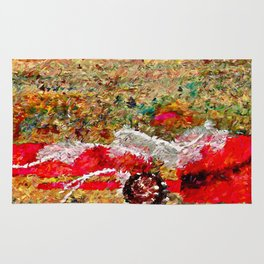 Beach Images Abstract Rug