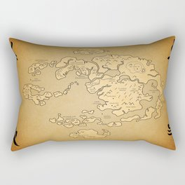 Avatar Last Airbender Map Rectangular Pillow