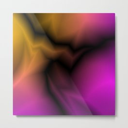 Cosmic sparkling hole of pink zigzags and yellow spots. Metal Print