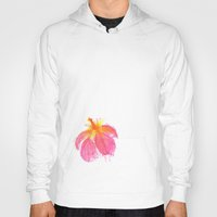 hibiscus Hoodies featuring Hibiscus by Grace Breyley