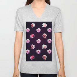 All Over Rose Print Unisex V-Neck