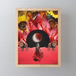 Leo Moon Framed Mini Art Print