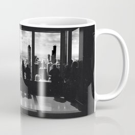 Chicago Illinois Skyline Black and White Surreal Collage Coffee Mug