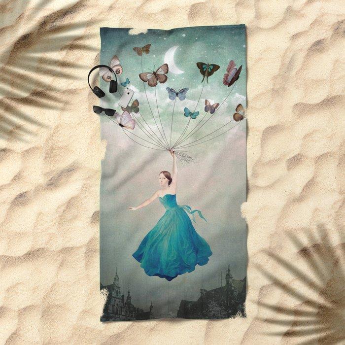 Leaving Wonderland Beach Towel