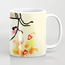Cutest ballerina in Love | Watercolors art Coffee Mug