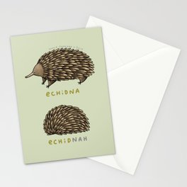 Echidna Echidnah Stationery Cards