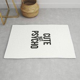Cute by Psycho #humor #minimalism #funart Rug