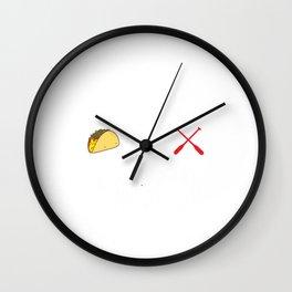 Kayaking and Tacos Funny Taco Wall Clock