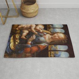 "Leonardo da Vinci ""Madonna of the Carnation"" Rug"