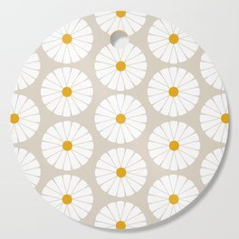 Minimal Botanical Pattern - Daisies Cutting Board