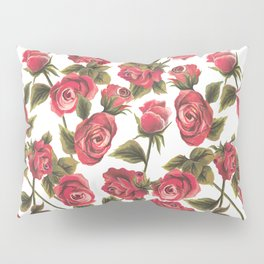 Classic Red Rose Pillow Sham