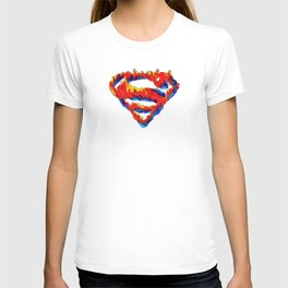 Superman in Flames T-shirt