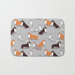 Origami Collie doggie friends Bath Mat