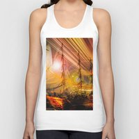 ships Tank Tops featuring Sailing ships sunset by Walter Zettl