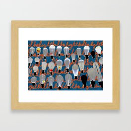 Lightbulbs Framed Art Print