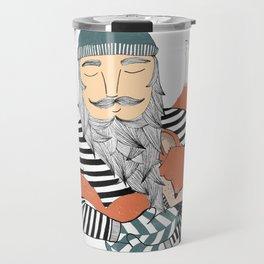 Man and fox. Travel Mug