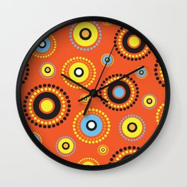 Aussie Pattern1 Wall Clock