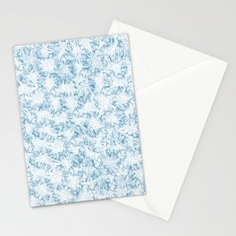 Blue Xray leaves Stationery Cards
