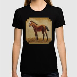 Bay Quarter Horse Foal T-shirt