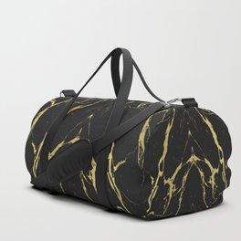 Golden Black Marble Duffle Bag