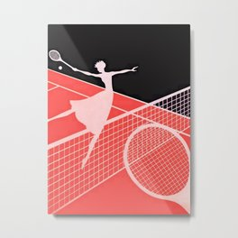"""Love – Tennis Suite 2"" Art Deco Design by Erté Metal Print"