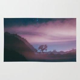 dreamy Joshua Tree at night Rug