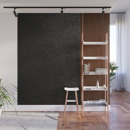 Black leather look Wall Mural