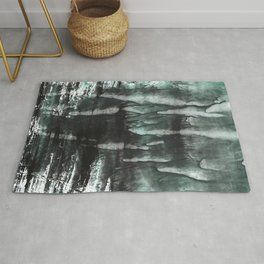 Gray abstract watercolor Rug