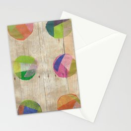 Circles on Wood Stationery Cards