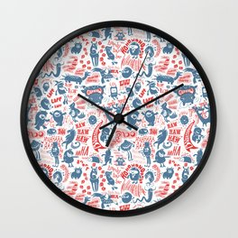 Merry Monsters Wall Clock