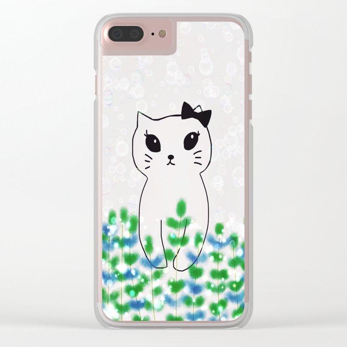 cat-438 Clear iPhone Case