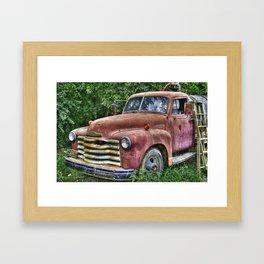 Old Chevy Truck Framed Art Print