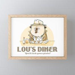 Lou's Diner Framed Mini Art Print
