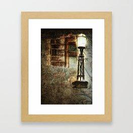 Victorian Pillar Lantern & Window Surround Framed Art Print